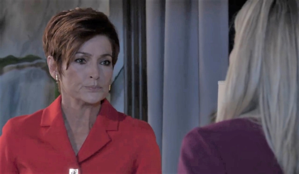 Carly and Diane discuss plan at Corinthos compound General Hospital