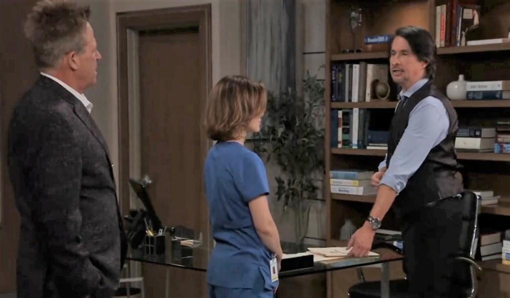 Liz, Finn asks Scott legal advice at General Hospital