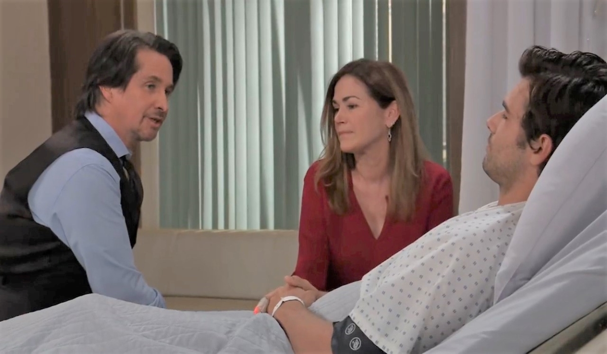 Finn, Jackie and Chase talk secrets at General Hospital