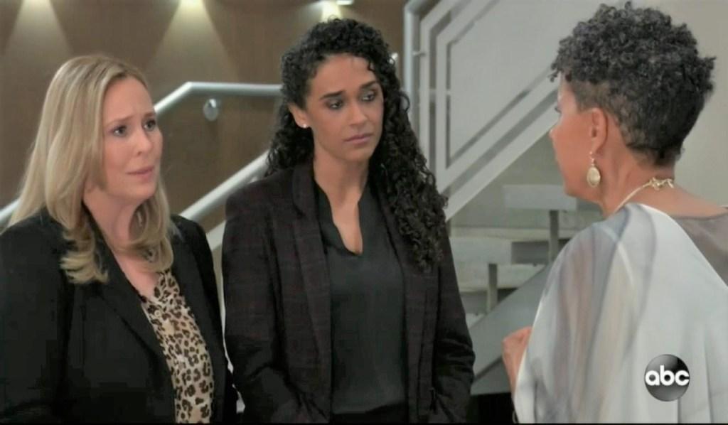 Laura, Jordan and Stella talk Curtis at General Hospital
