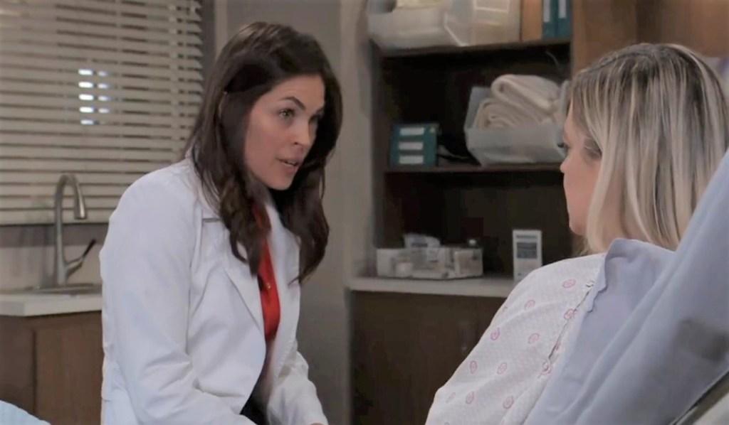 Maxie and Britt talk plan at General Hospital