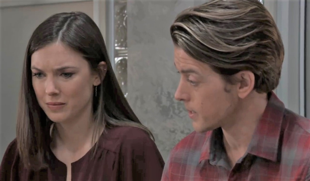 Michael and Willow discuss Nina at General Hospital