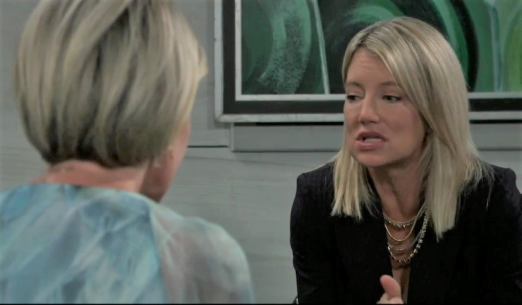 Nina and Ava discuss home at Metro Court General Hospital