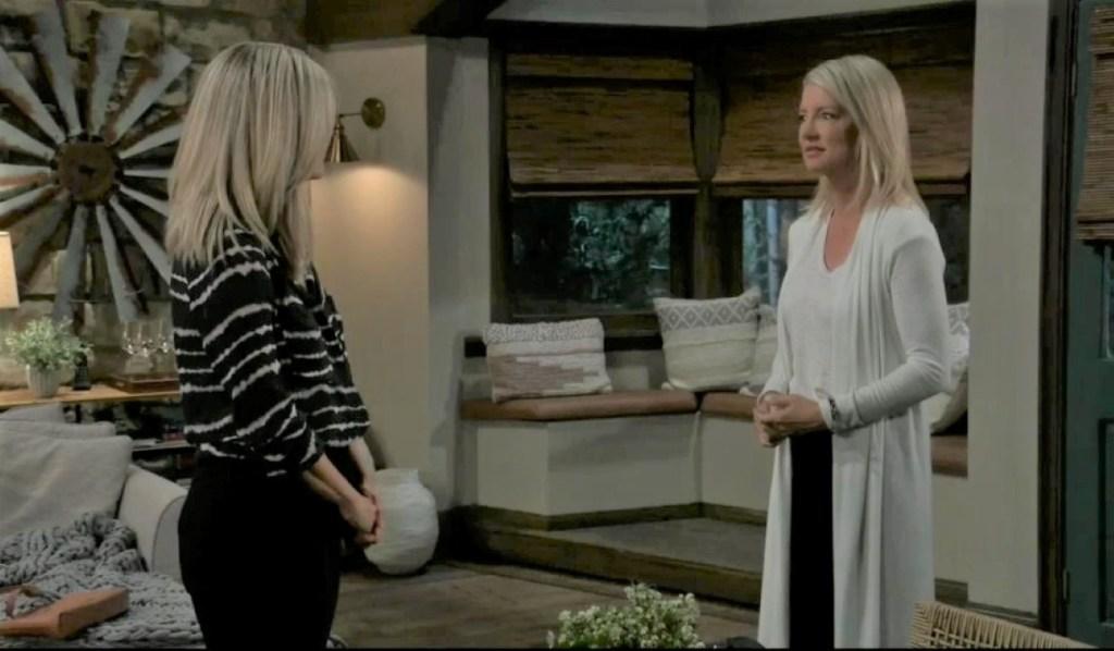Nina and Carly talks Jax at guest house General Hospital