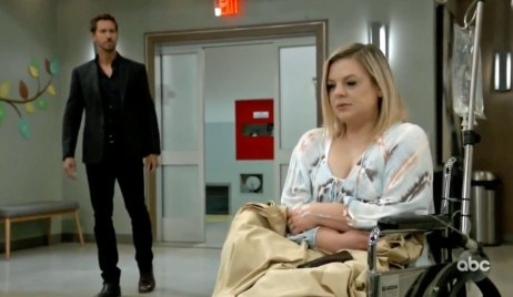 Peter sees Maxie at the hospital GH