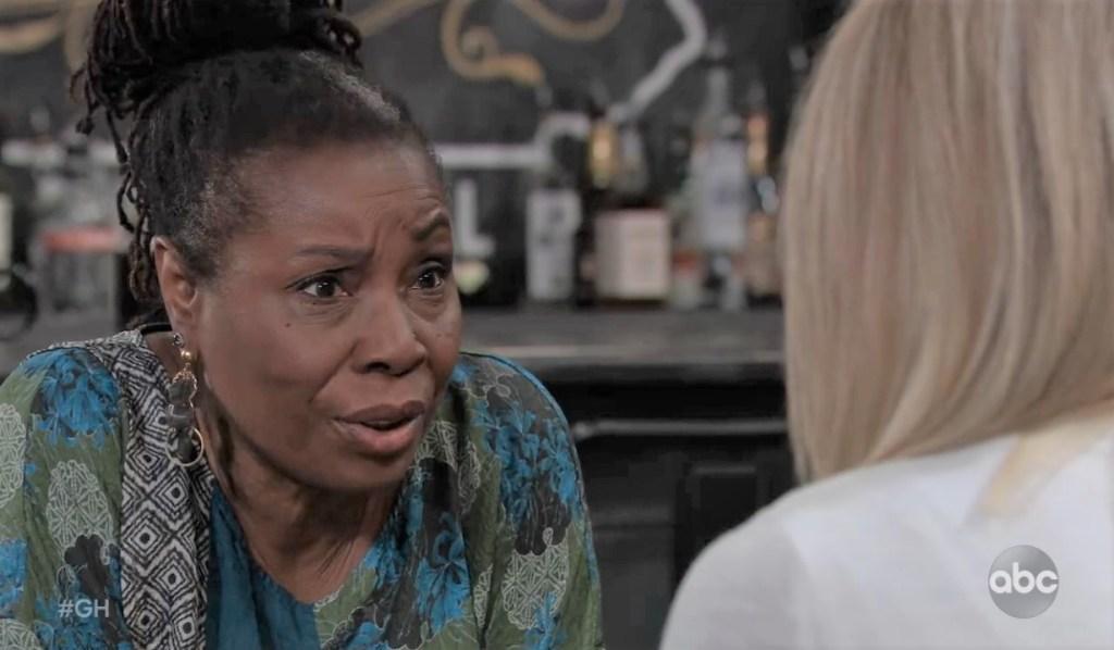 Phyllis and Nina talk Mike at Tan-O General Hospital