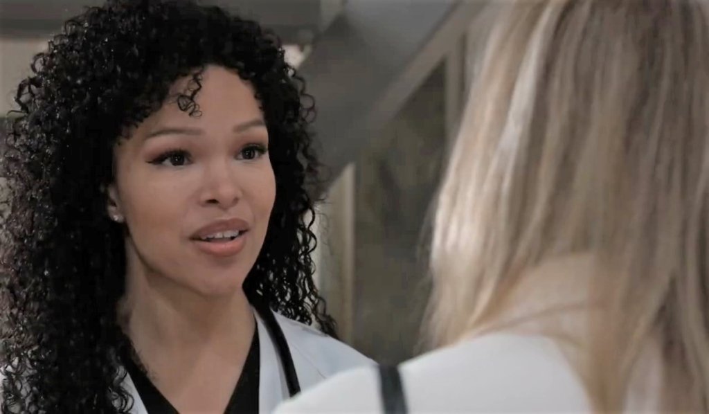Portia and Laura discuss Curtis at General Hospital