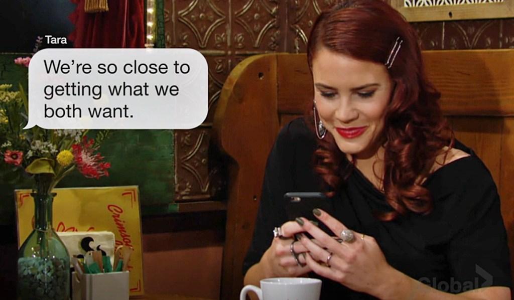 Sally text from Tara Y&R