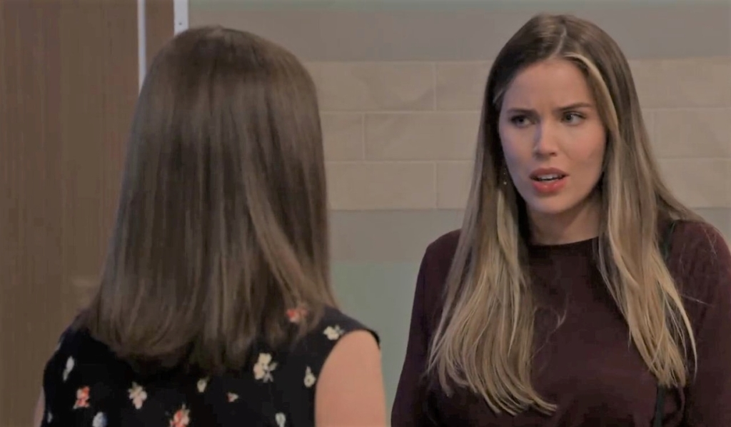 Sasha and Willow discuss marrying Chase at General Hospital