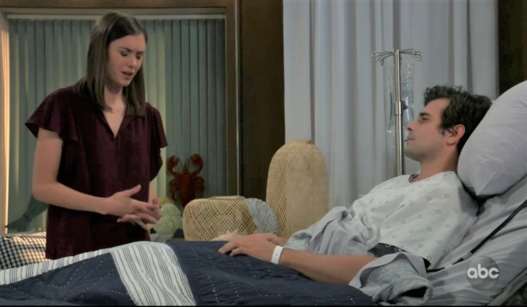 Willow tries to explain to Chase at General Hospital