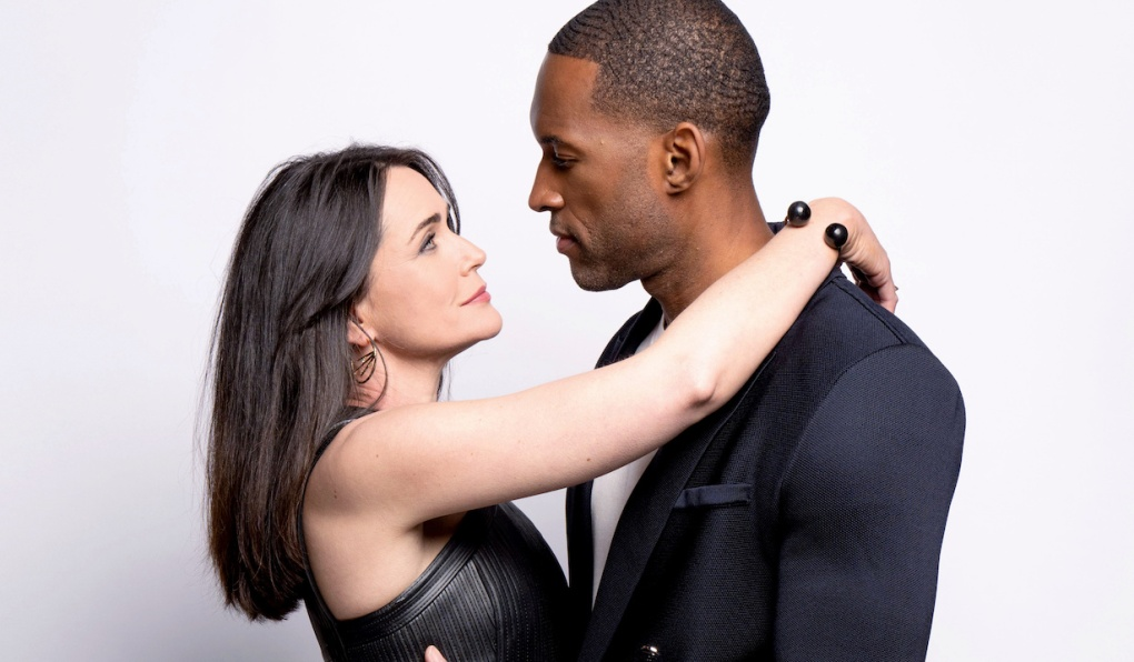 """quinn carter embrace gallery Lawrence Saint Victor, Rena Sofer""""The Bold and the Beautiful"""" SetCBS Television CityLos Angeles, Ca.05/21/21© Howard Wise/jpistudios.com310-657-9661"""