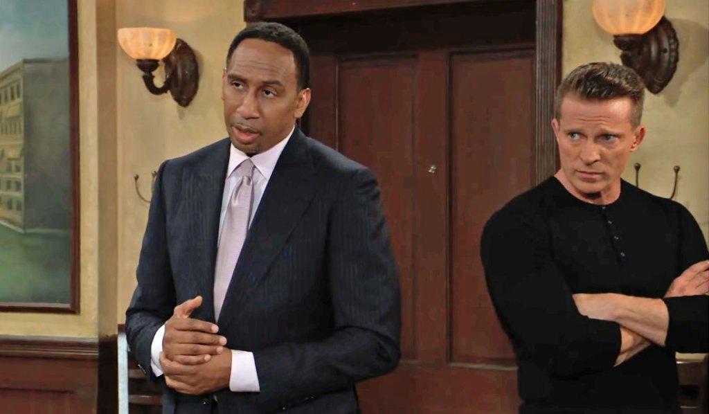 Brick and Jason talk sense to Carly GH
