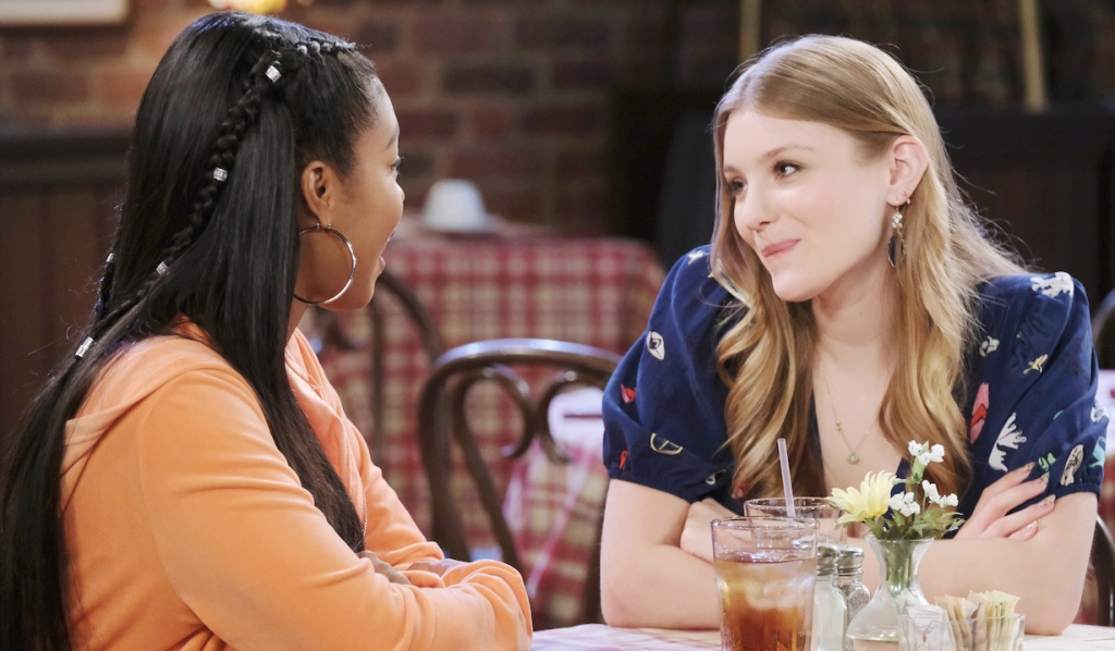 Chanel and Allie lunch at Brady's Pub on Days of Our Lives