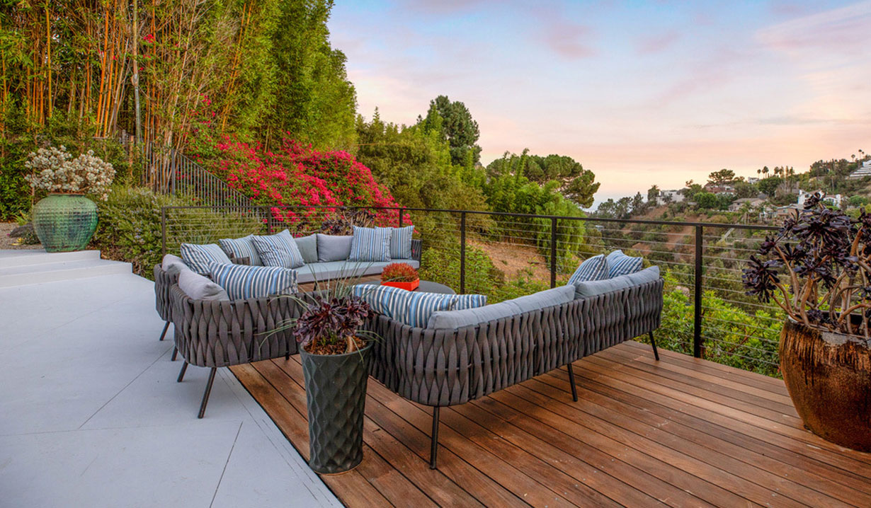 Chrishell Stause's house outdoor living days