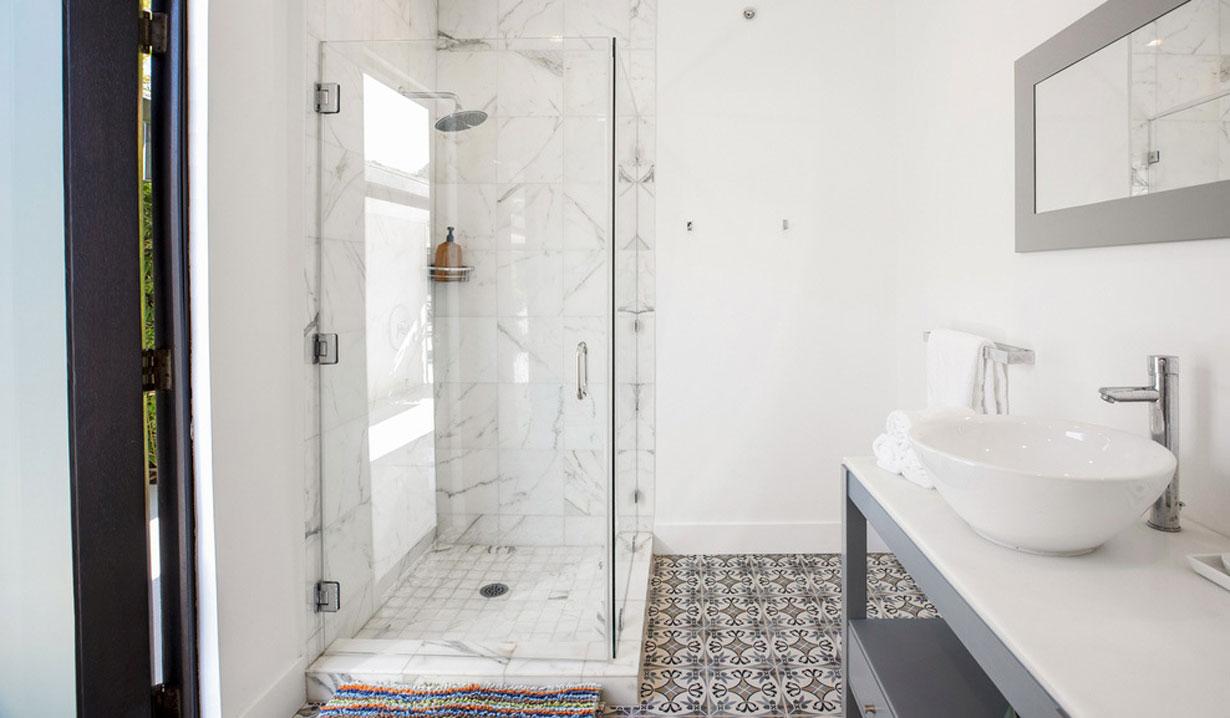 Chrishell Stause's house master bath shower days