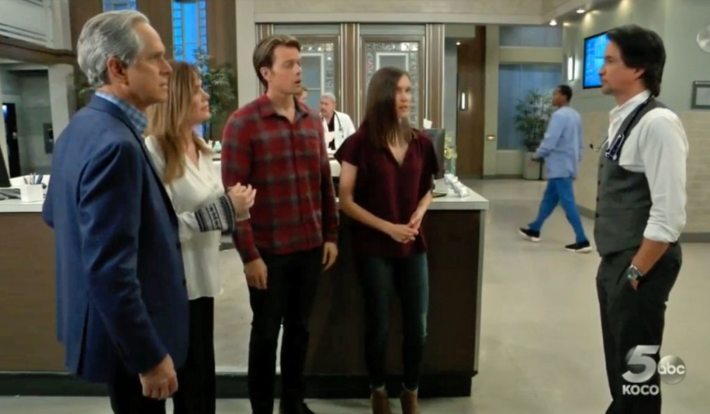 Finn delivers bad news to family GH