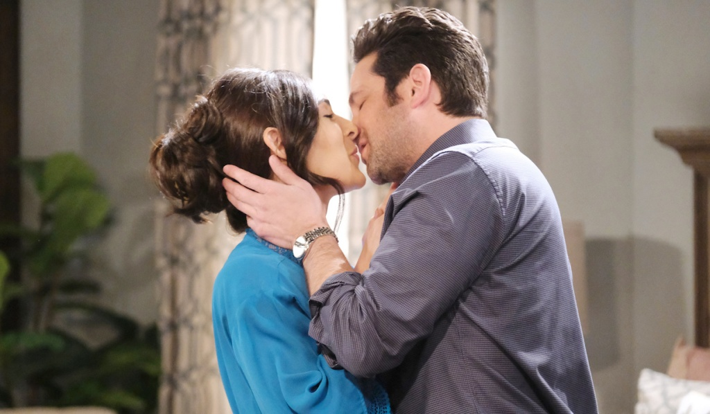 Gabi and Jake kiss on Days of Our Lives