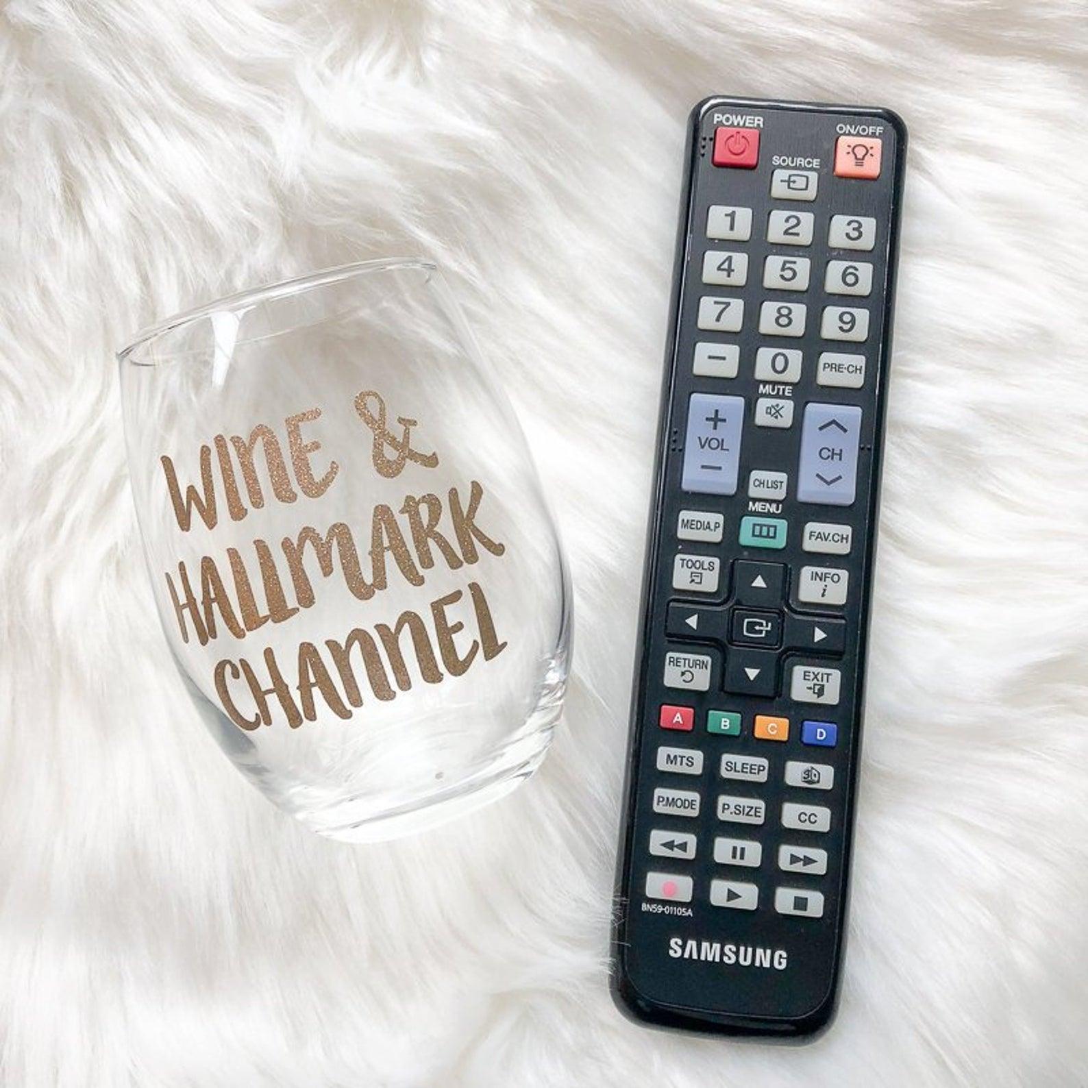 Wine & Hallmark Channel Wine Glass