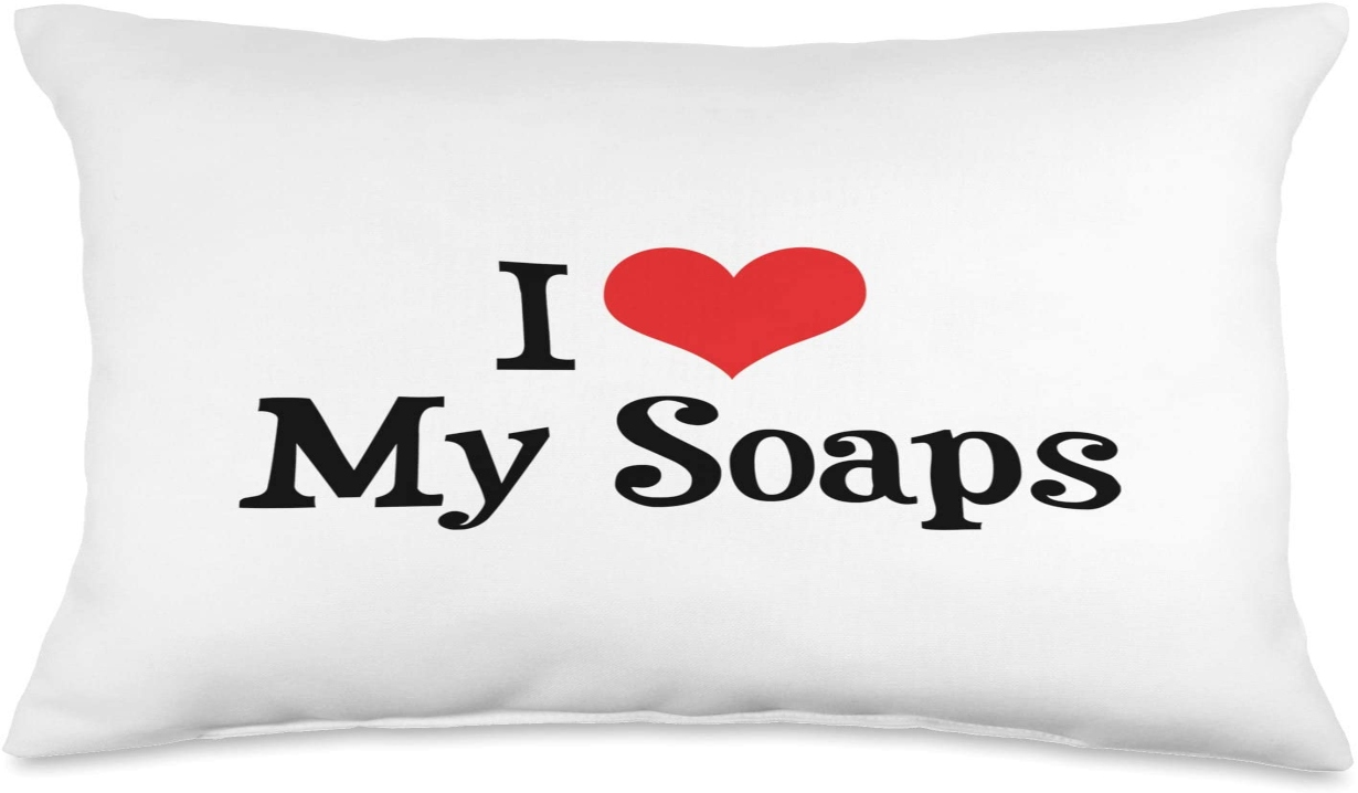 i heart my soaps pillow