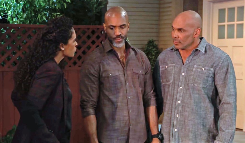 Jordan, Curtis and Taggert try and save Portia and Trina GH
