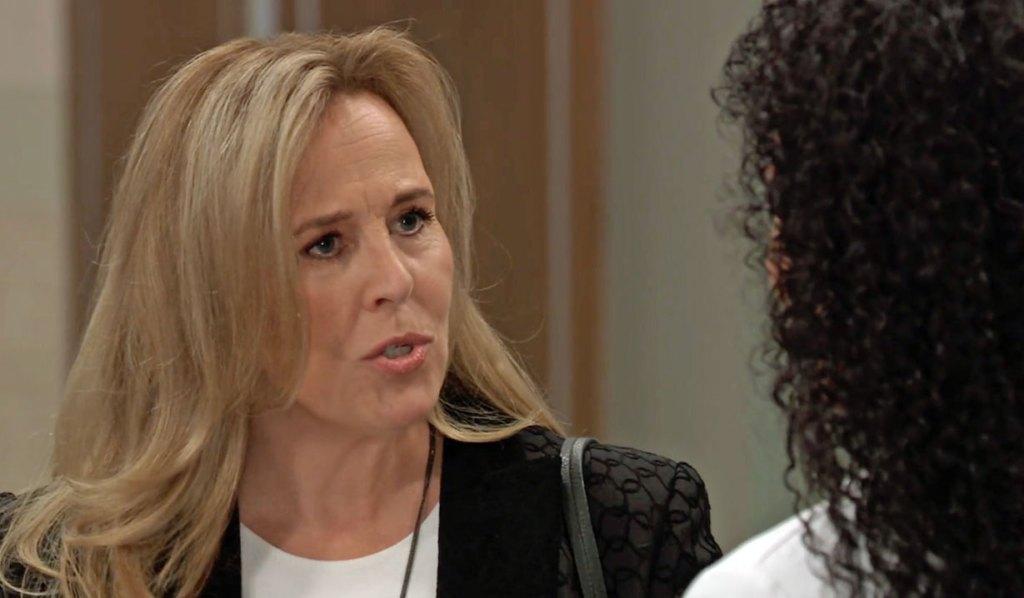 Laura and Portia talk hospital business GH