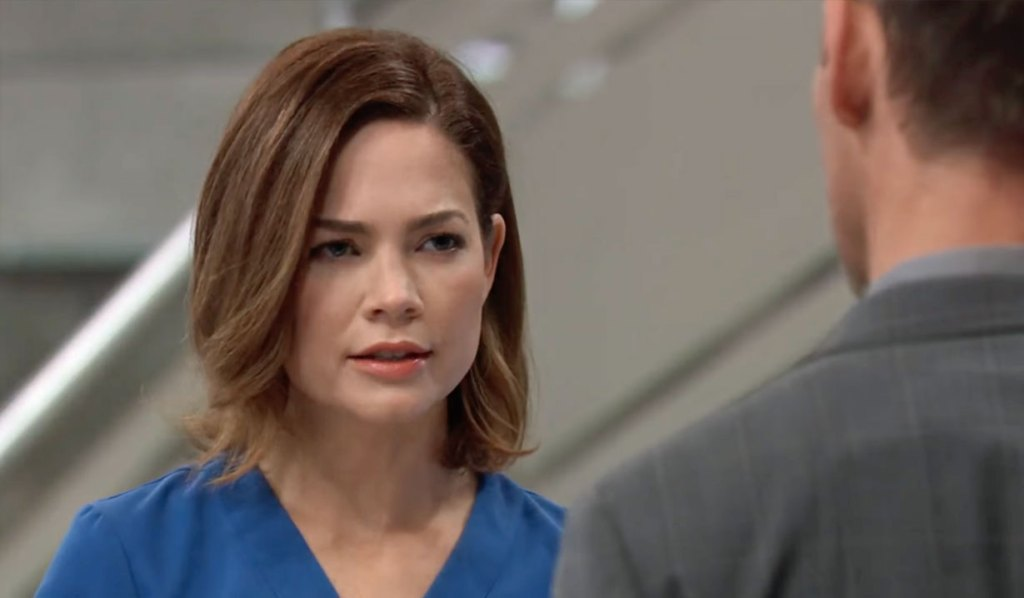 Liz is angry with Valentin GH