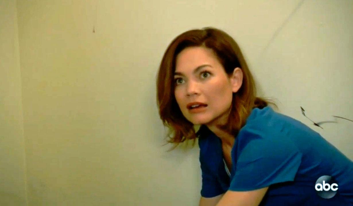 Liz finds a dead Peter GH