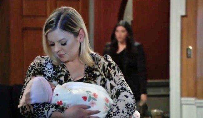 Maxie holds Louise GH