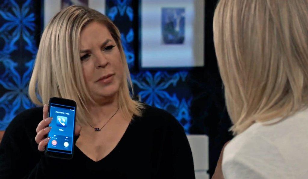 Maxie sees Nina's call GH