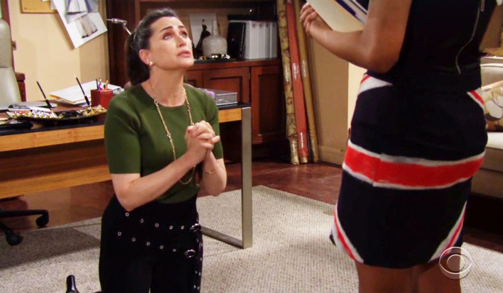 quinn begs on her knees to paris bb