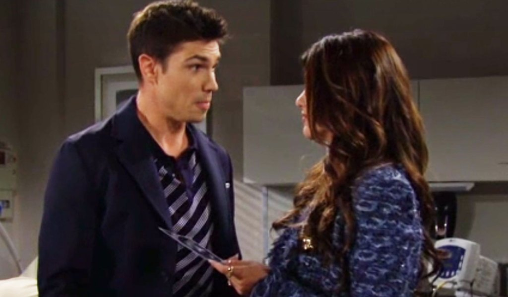 steffy and finn at doctors bb