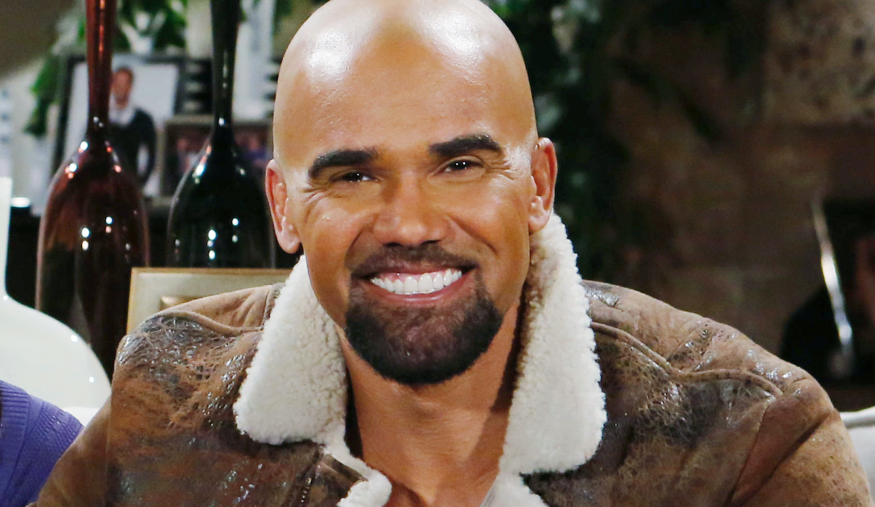 """Shemar Moore, Christel Khalil, Bryton James """"The Young and the Restless"""" Set CBS television City Los Angeles 03/21/19 © Howard Wise/jpistudios.com 310-657-9661"""