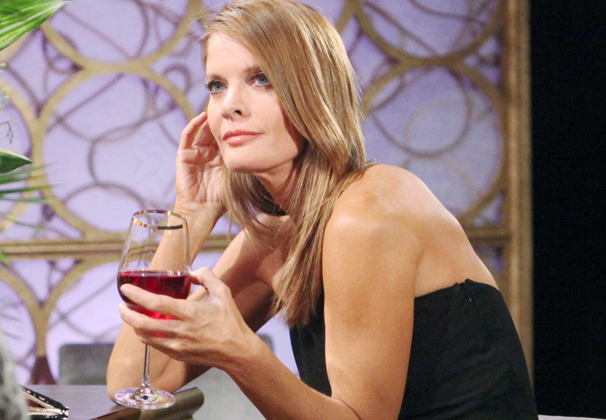 """Michelle Stafford phyllis unsized wine """"The Young and the Restless"""" Set CBS television City Los Angeles 05/16/19 © Howard Wise/jpistudios.com 310-657-9661 Episode # 11708 U.S. Airdate 06/17/19"""