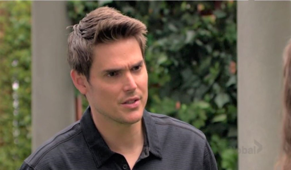 Adam and Chelsea argue about Connor in the park Y&R