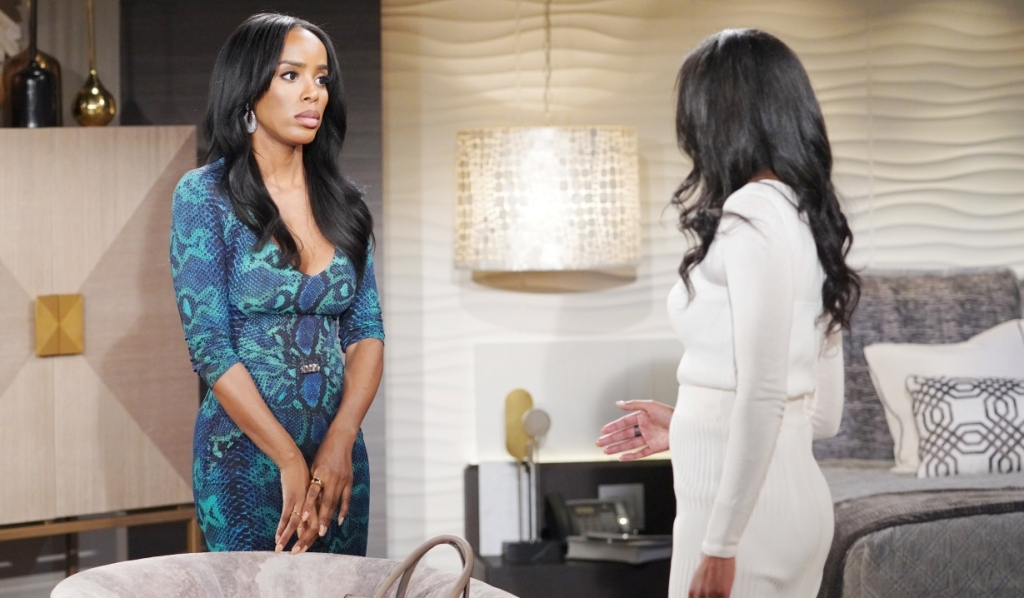Amanda and Imani worry about Naya in hotel Y&R