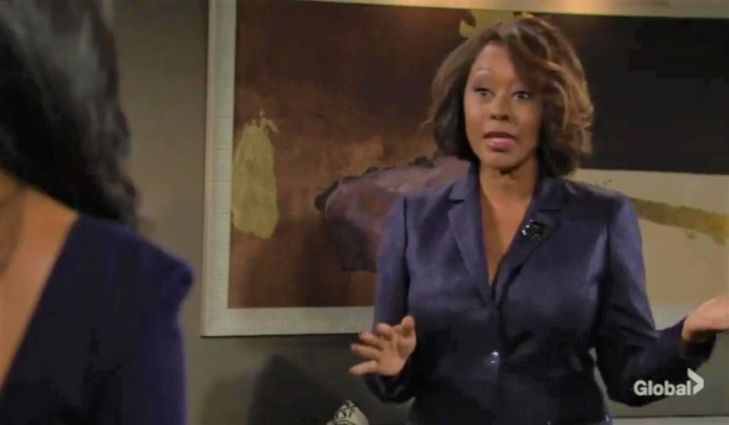 Amanda and Naya debate case in apartment Y&R