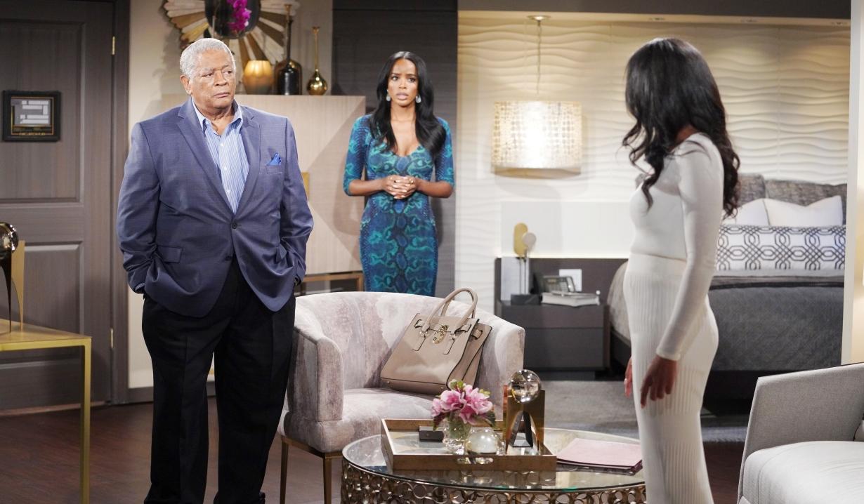 Amanda threatens Sutton in hotel room Y&R