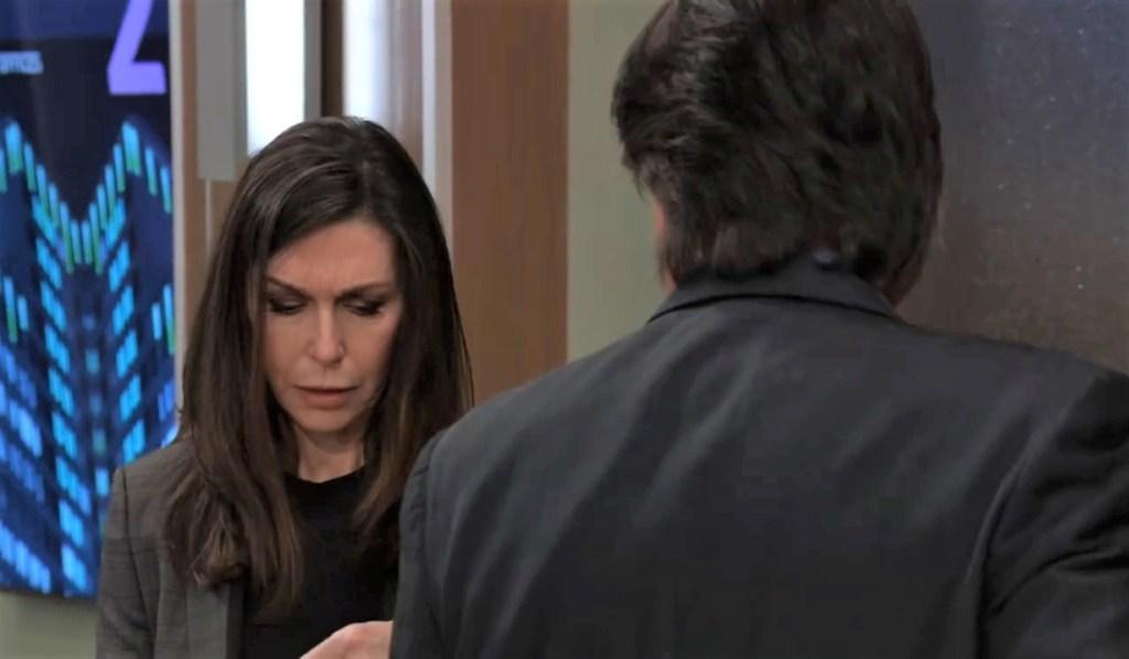Anna and Finn talk friendship at General Hospital
