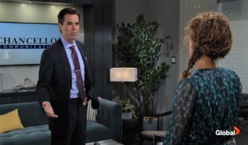 Billy and Lily debate the video at Chance Com Y&R