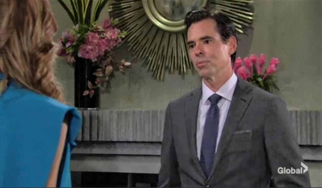 Billy and Phyllis talk Tara at Grand Phoenix Y&R