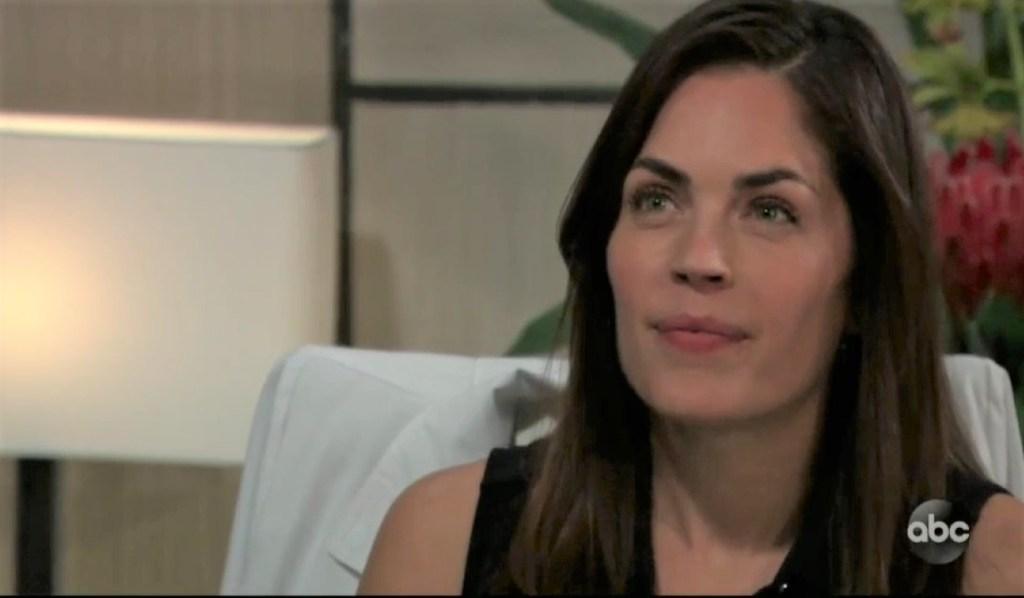 Britt and Jax discuss Carly at General Hospital