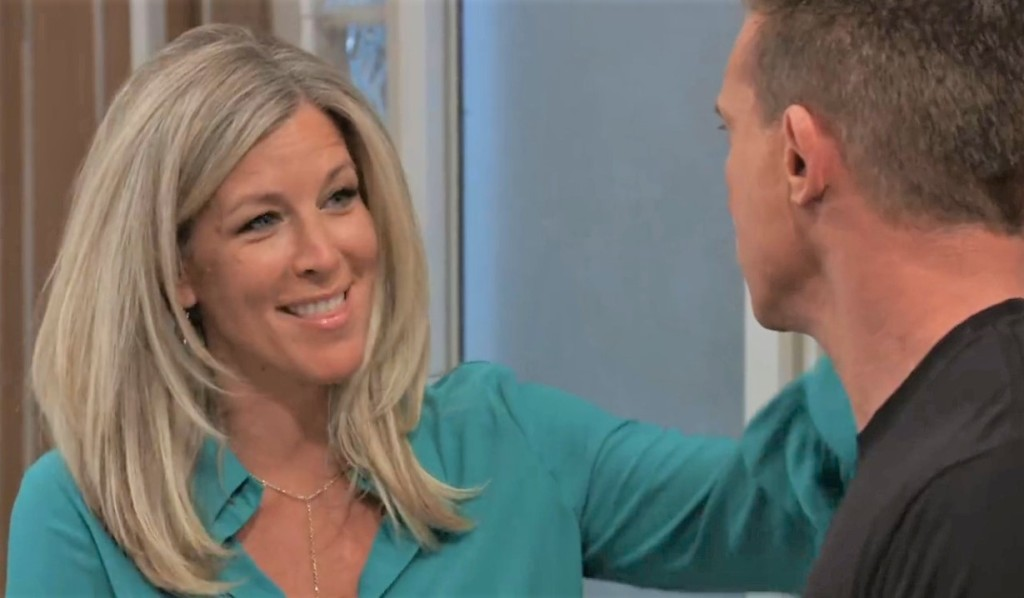 Carly and Jason discuss Britt at General Hospital