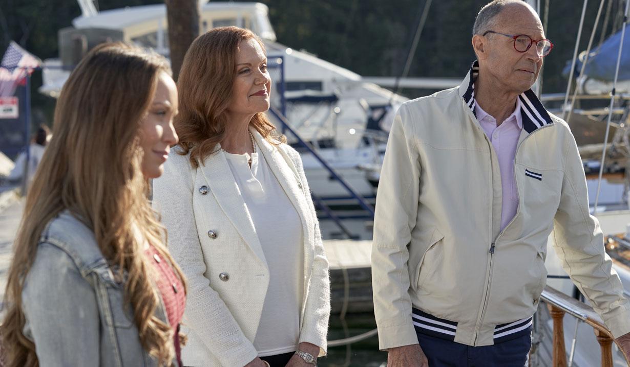 Chesapeake Shores season five Jess with David's parents Hallmark