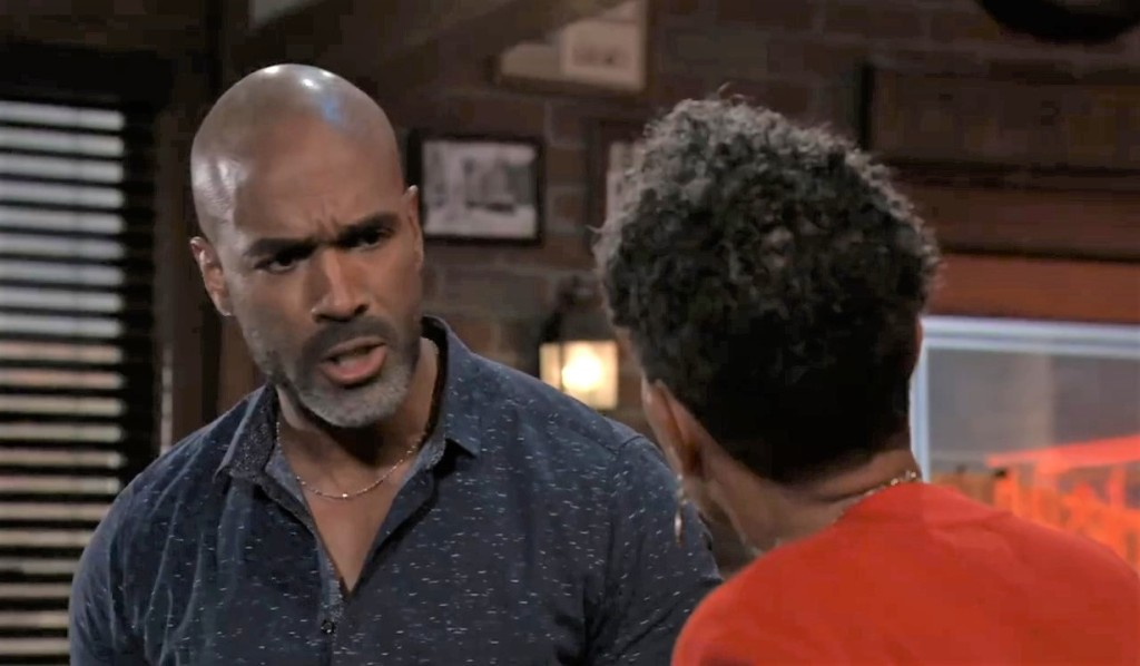 Curtis lectures Stella at Charlie's General Hospital