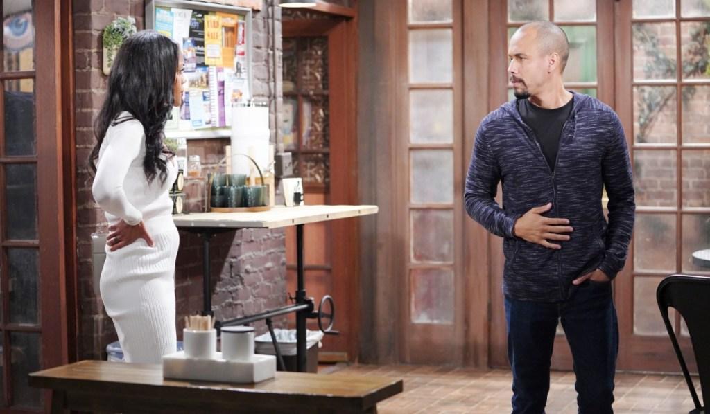 Devon and Amanda discuss Victor at Crimson Lights Y&R