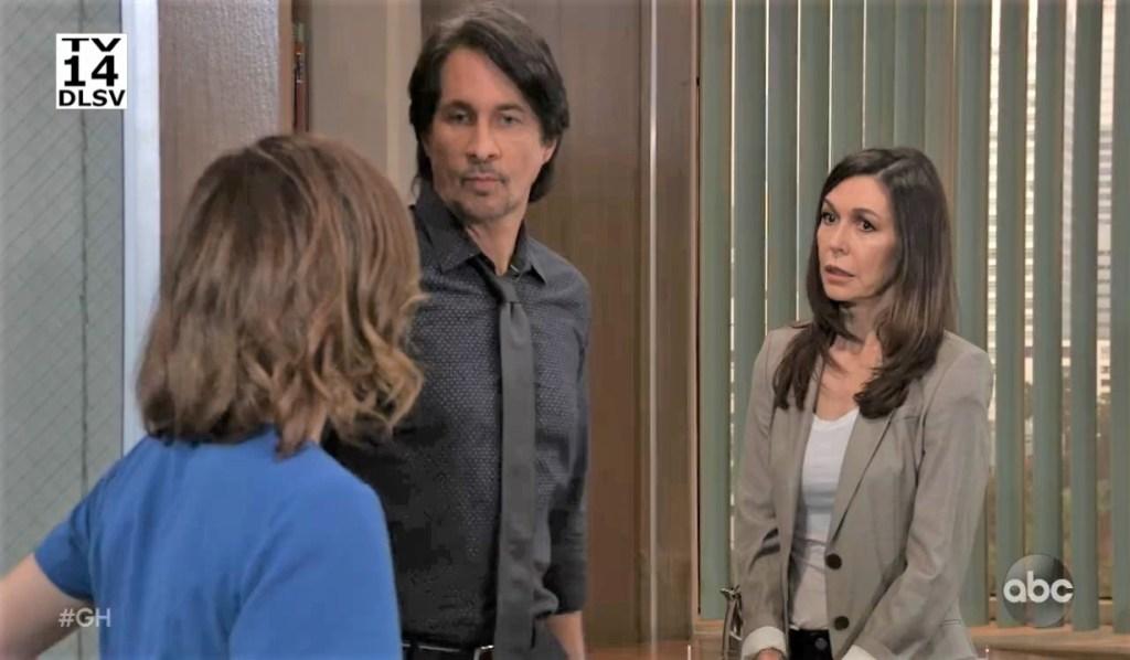 Liz interrupts Finn and Anna at General Hospital