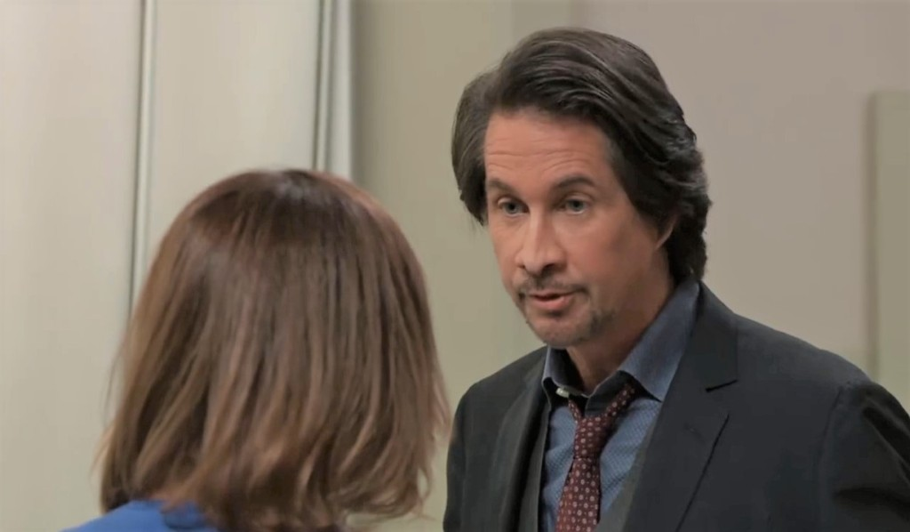 Finn and Liz discuss what to do about Peter in General Hospital
