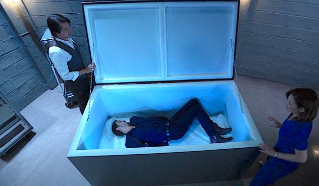 GH Peter in freezer liz finn screenshot