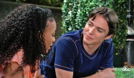 Spencer and Trina bond flirt GH