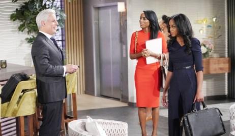 Imani and Amanda bring Michael evidence at Grand Phoenix Y&R